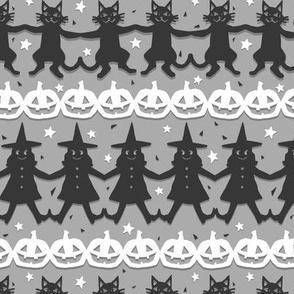 Cut Paper Halloween Pals on Grey