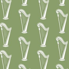 harp - pale green
