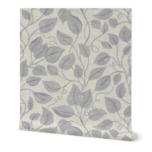 ikat vines in neutral colors