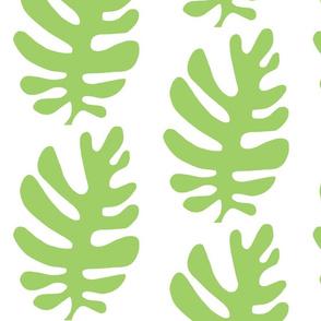 Funky Leaf  (green & white)