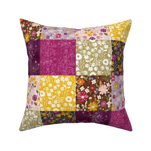 Fall Wildflower Patchwork Spoonflower