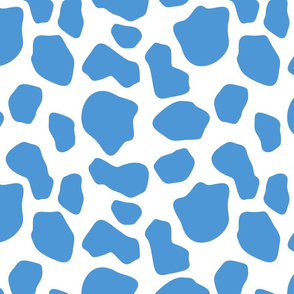 blue and white cow spots