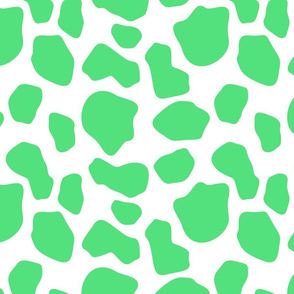 green and white cow spots