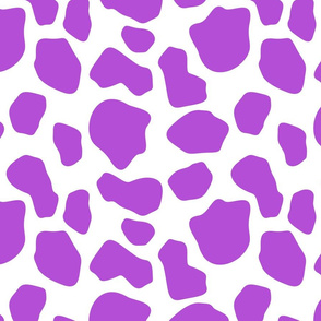 purple and white cow spots