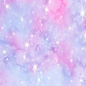 Cotton Candy Watercolor Galaxy
