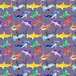 Rainbow hammerheads - dark lilac - small