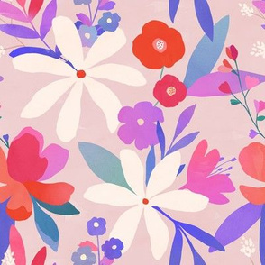 Colorful Floral Fabric Pattern
