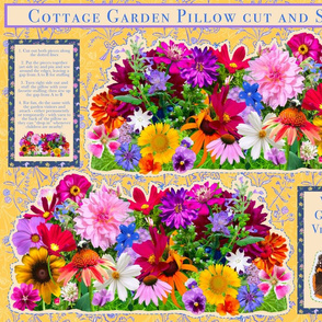 Cottage garden cut and sew
