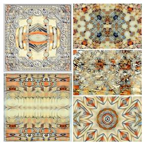 Contemporary Vanilla Southwest Tile. XL