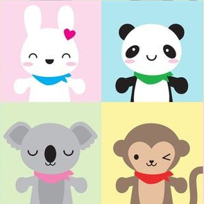 Super Cute Kawaii Animal Mascots