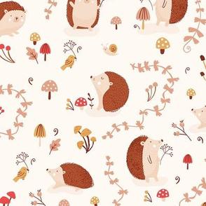 Hedgehogs beige