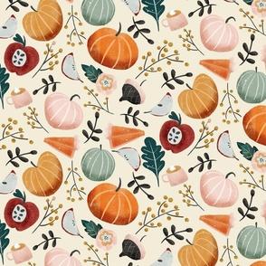 Pumpkins Apple pie