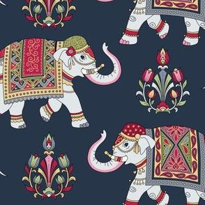 indian elephants dark