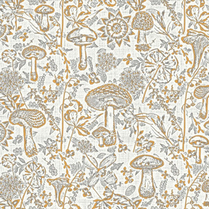 mushroom garden  orange