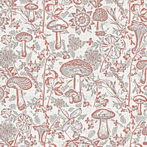 mushroom garden red