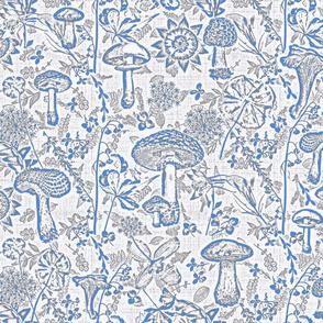mushroom garden classic blue