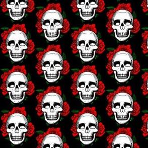 Skulls and Roses  - black