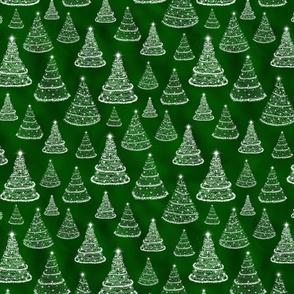 Christmas Trees Lights Green