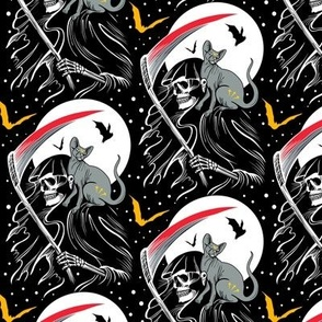 Grim Reaper & Cat