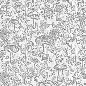 mushroom garden grey