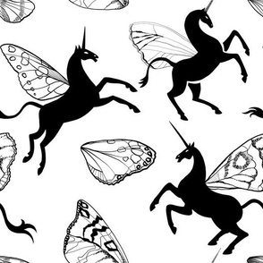 Unicorns with butterfly wings