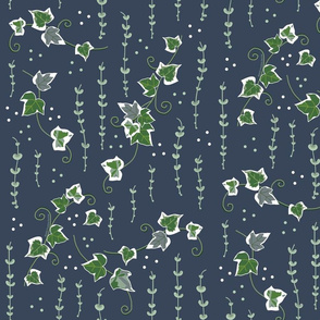 Variegated  ivy vines oxford blue