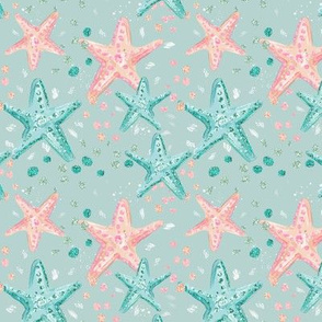 Aqua Glitter Starfish