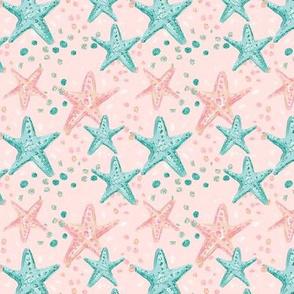 Pink Glitter Starfish