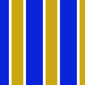 Blue and Gold Striped Fabric