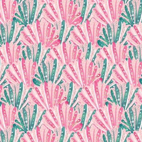 Pink Glitter Shells