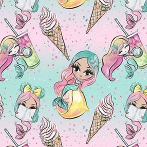 Summer Mermaid Dolls // Drinks & Ice cream