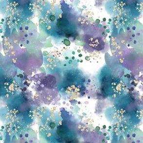 Watercolor Tie Dye  // Mermaid Wishes