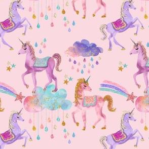 Glitter Unicorns // Pink