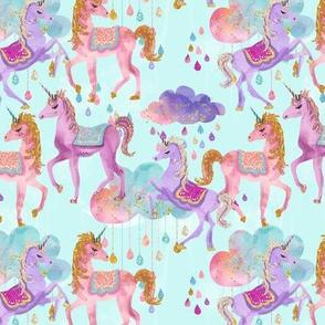 Glitter Unicorns // Teal