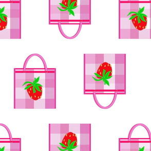 Strawberry Mesh Bag Tote