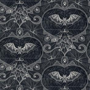 Gothic Lace-Bats-black