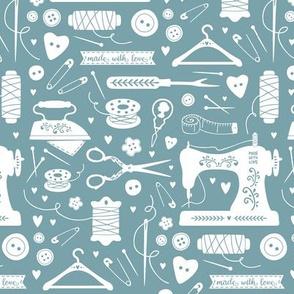 sewing tools teal
