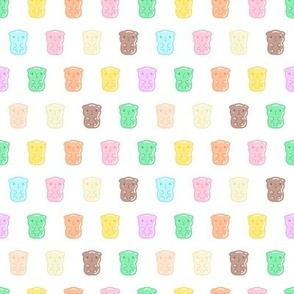 Colorful Gummy Guinea Pigs Pattern , Small Gummy, Small Scale