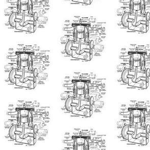 Small single-cylinder T-head engine BW