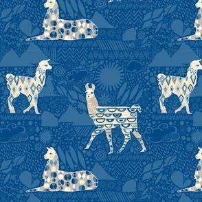 Llamas Deep Blue (Small)