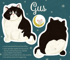 GUS the cat plushie pillow
