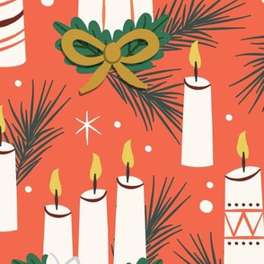 Vintage Christmas Candles | Extra Large Scale