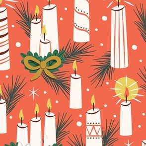 Vintage Christmas Candles | Large Scale