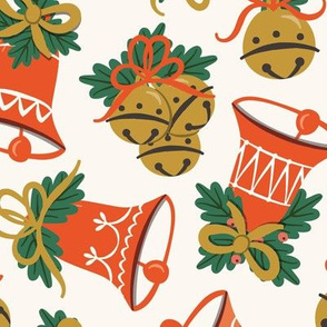 Vintage Christmas Bells | Large Scale