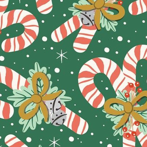 Vintage Candy Canes | Large Scale