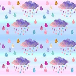 Rainbow Glitter Clouds