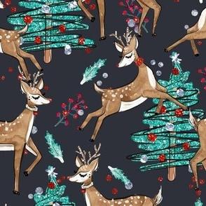 Reindeers & Glitter Christmas Trees