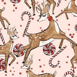 Reindeers & Pepermint lollies // Pink