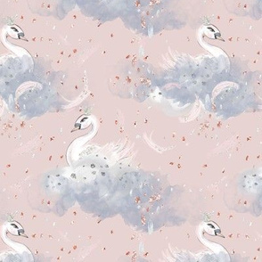 Dance of the Swans in Clouds // pink