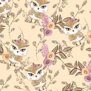 Woodland Florals & Owls